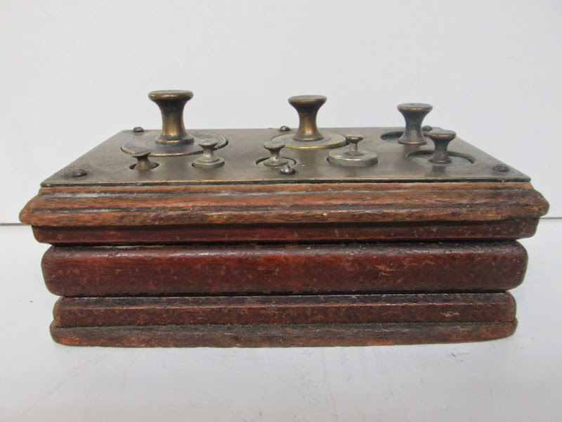 Antique Scale Weight Set