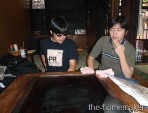 Hong & Howie  in Sometaro, Asakusa