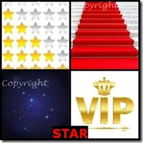 STAR- 4 Pics 1 Word Answers 3 Letters