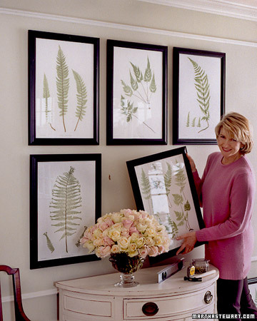 Get even more picture hanging tips from Martha here: http://www.marthastewart.com/268983/arranging-pictures