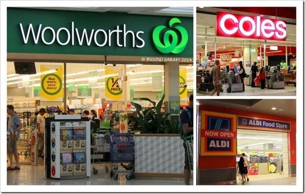 Woolworths, Coles & Aldi - Westfield Garden City © BUSOG! SARAP! 2014