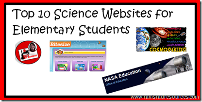 Top 10 Science Websites for Kids - Great online resources to get kids engaged in learning science.  Suggestions made by Heidi Raki of Raki's Rad Resources