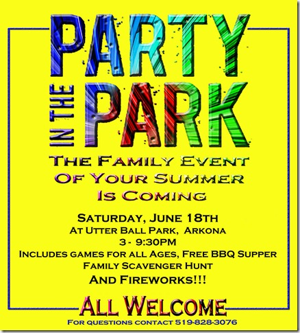 Party In The Park Poster web size