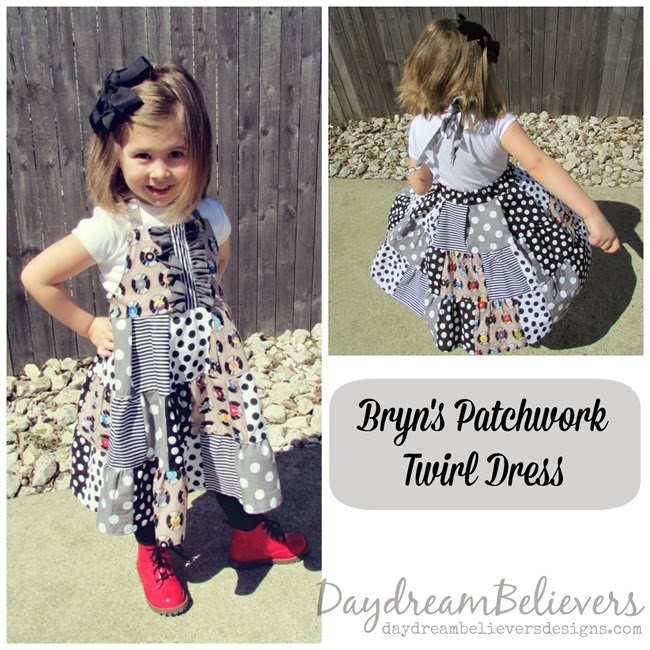 Bryn's Patchwork Twirl Dress by Daydream Believers