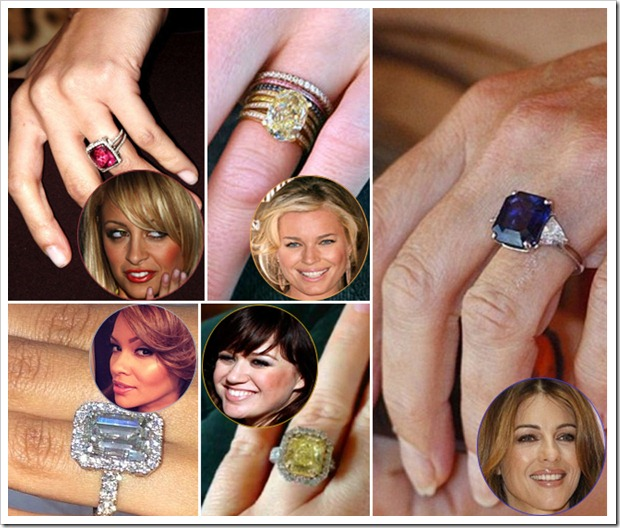 Celebrity Stylish Engagement Rings