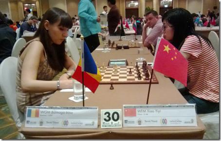 WGM Irina Bulmaga vs WFM Xiao Yiyi of China