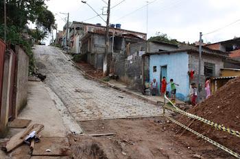 Obras são retomadas na comunidade João do Dico