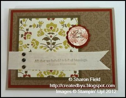 two dsp's and cajun craze card stock with twill tape