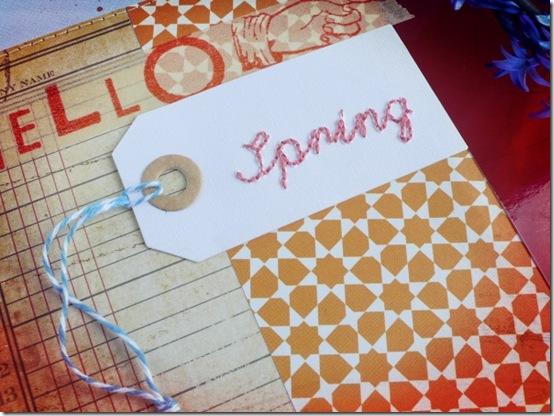 Anna Drai - big shot - scrapbooking - Hello Spring