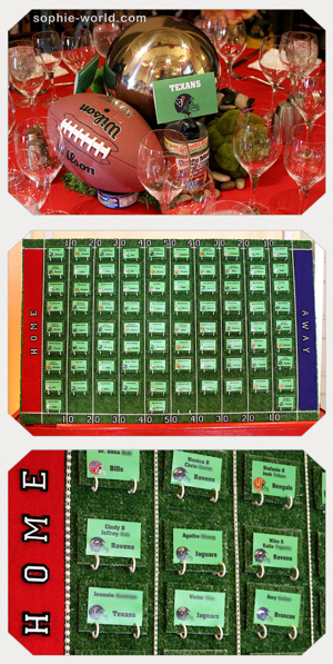 Table card football