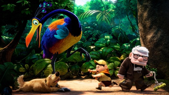 Pixar Up Carl Russell Dug and Kevin