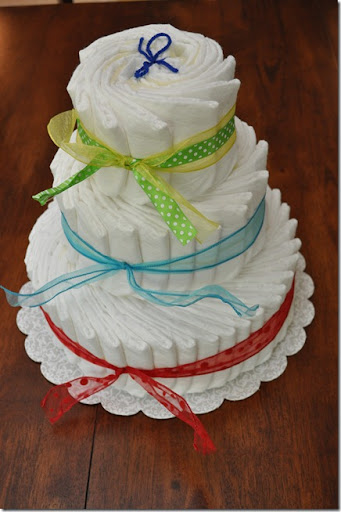 diaper cake tutorial 11