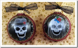 Skull Wedding Ornament Set 2012