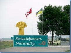 2002 Saskatchewan TC-1 East - border sign