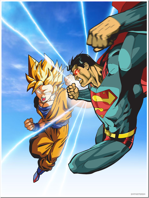 Goku Super Saiyajin vs Superman