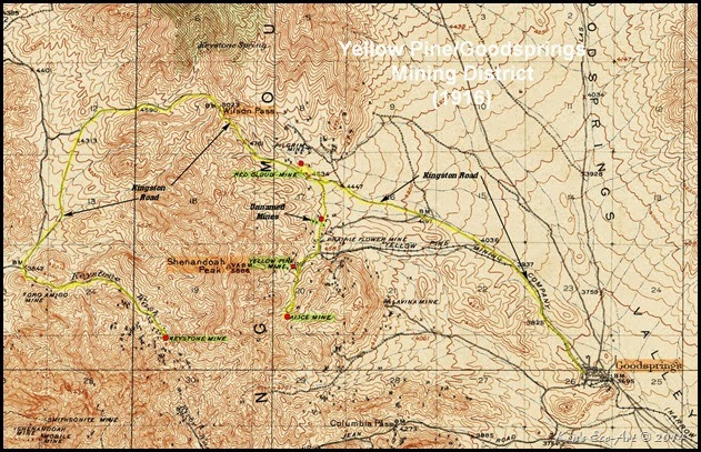 P-1916 Goodsprings Mining District Map