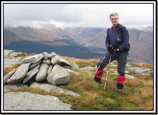 Graham Brookes at Point 767 on Beinn Trilleachan, on Sunday morning