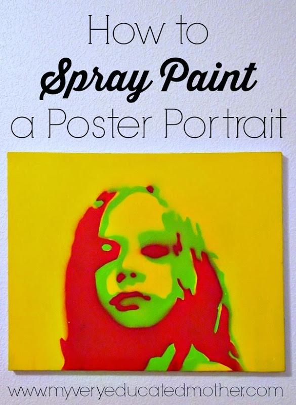 How to Create a Spray Paint Portrait via @mvemother #plutoniumhoa #DIY