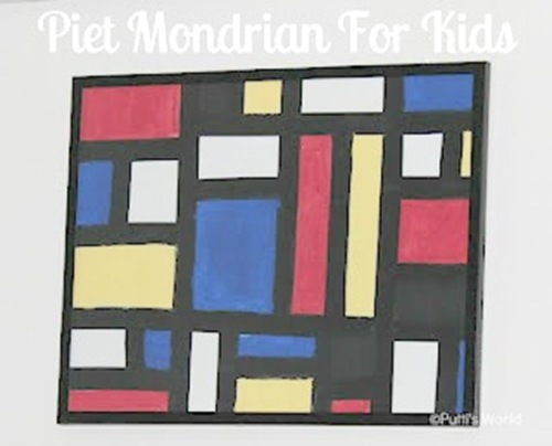 Piet Mondrain Art for Kids