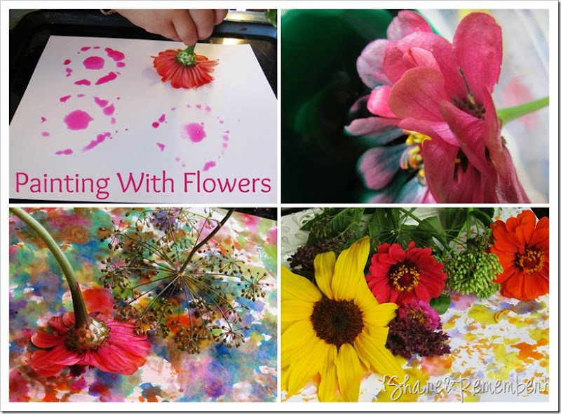 flower painting collage 3