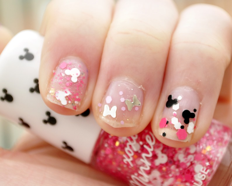 minnie mouse nail polish etude house review swatches 4