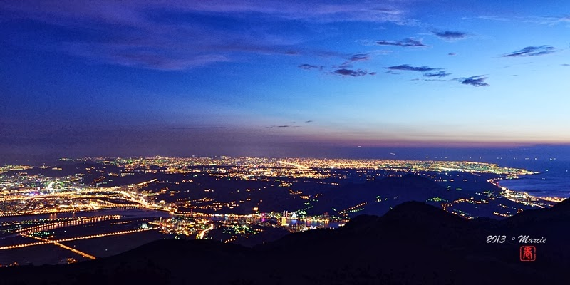 台北 大屯山 夜景