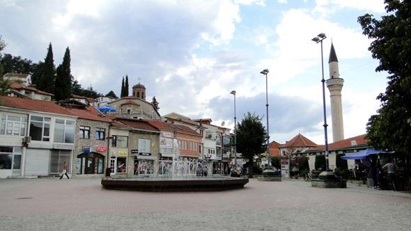 Praça em Ohrid