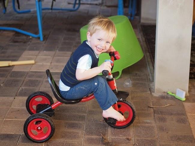 ode - rides his trike