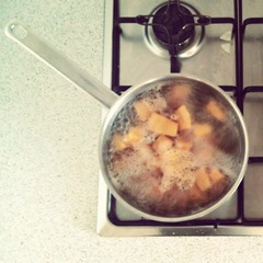 boiling pumpkin