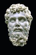 Retrato de Séptimo Severo en mármol del 200-206 d.C.