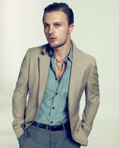 Michael Pitt by Michelangelo Battista @ Management + Artists, Maarch 2012.  Stylist TBD.