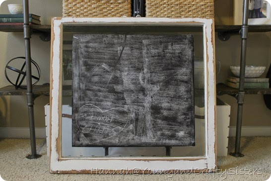 Window Pane Chalkboard 3