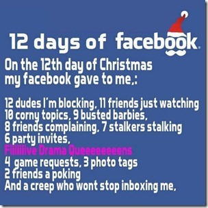 12 days of facebook