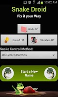Screenshot of Snake Droid