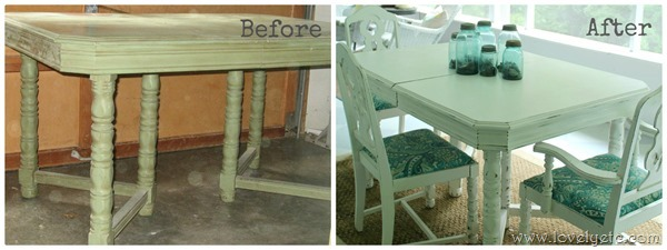 painted table redo before and after