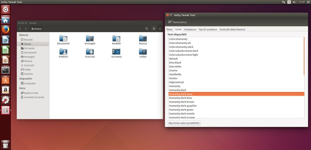 Humanity Colors 14.04.3 in Ubuntu