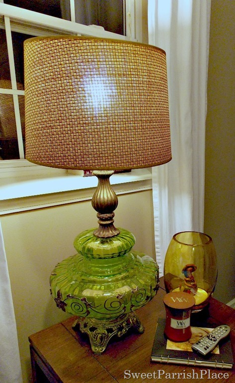 Vintage Green Lamp9