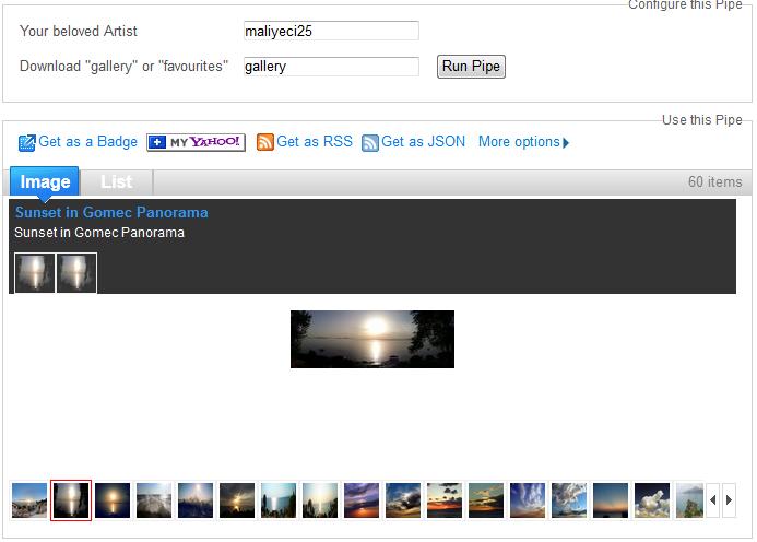 Pipes - Deviantart Downloader
