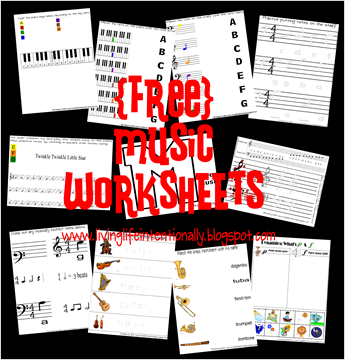 Free music labook and music worksheets for preschool and homeschool kids