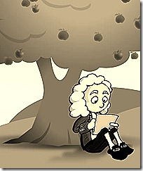 Newton under an apple tree
