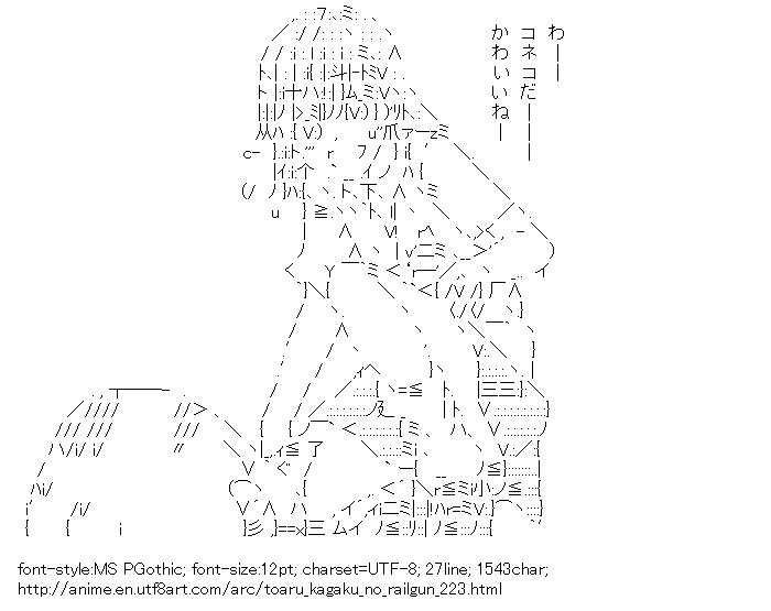 Toaru kagaku no railgun,Misaka Mikoto