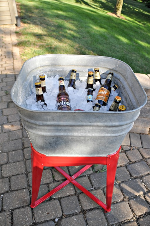 Vintage Wash Tub Beverage Cooler