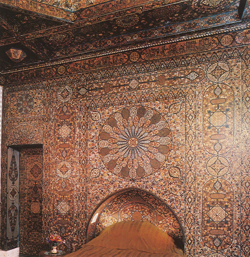 To some Moroccan splendor from Villa Taylor and a most intricate mosaic tile work in the guest room.