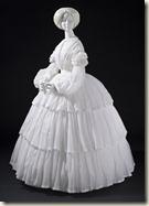 Robe, 1855  Mousseline de coton
