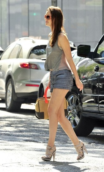 leighton-meester-and-31-phillip-lim-fall-2010-rtw-suede-and-metal-grommet-shorts-gallery