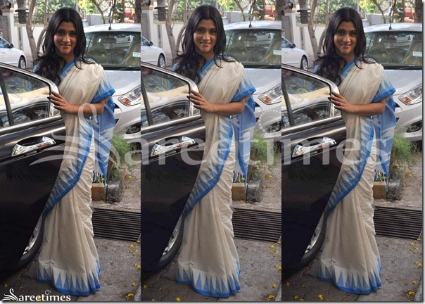 Konkana_Sen_Off_White_Saree