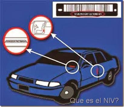 que es el niv numero de identificacion vehicular o numero vin
