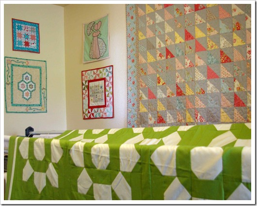 Sewing Room Wall Quilts