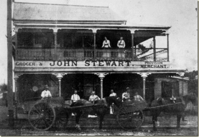 John Stewarts grocery store at Annerley around 1913