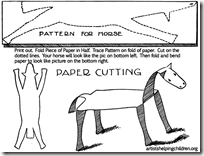 folding-bending-cutting-paper-horse